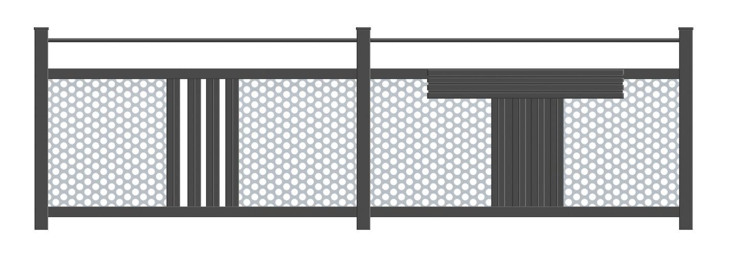 Guardi, Deutschland, Balkon, Balkongeländer, Balkon modern, Aluminium