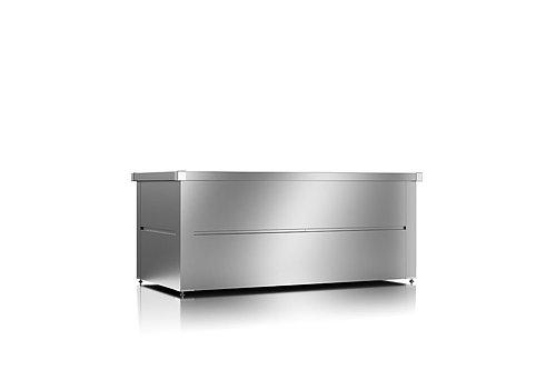Gartenbox aus Stahl in silber