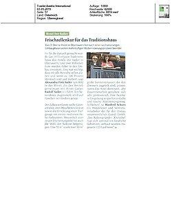 Textauszug aus dem Tourist Austria Magazin über die neue Umzäunung im Hotel Sailer von GUARDI