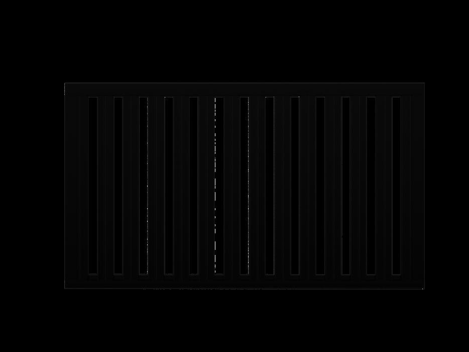 Zaunfeld mit 82mm Profil in anthrazit, Modell Umbria vertikal, auf weißem Hintergrund