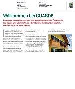 Pressetext von GUARDI im Wohn.Sinn Magazin