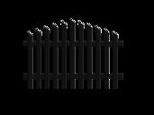 Jägerzaunfeld konvex spitz in anthrazit, Modell Treviso, auf weißem Hintergrund