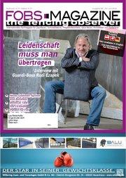 Titelbild des FOBS Magazins mit GUARDI Geschäftsführer Rudolf Czapek