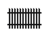Jägerzaunfeld Schrägkappen schräg links in anthrazit, Modell Treviso, auf weißem Hintergrund