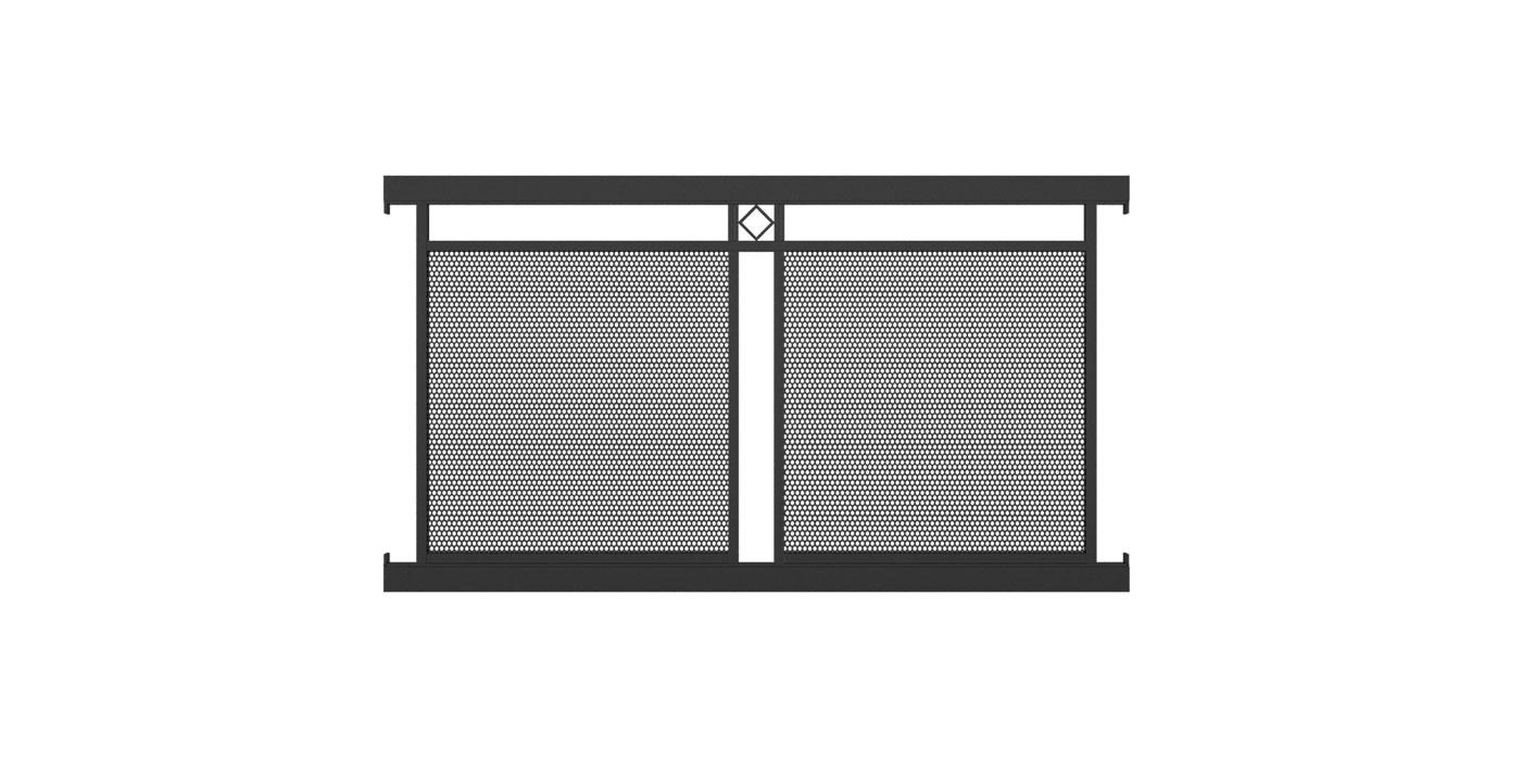 Loskana, Guardi, Österreich, Aluzaun, Zaun, Aluminium modern, Lochblechfüllung, Lochblech, Dekorraute