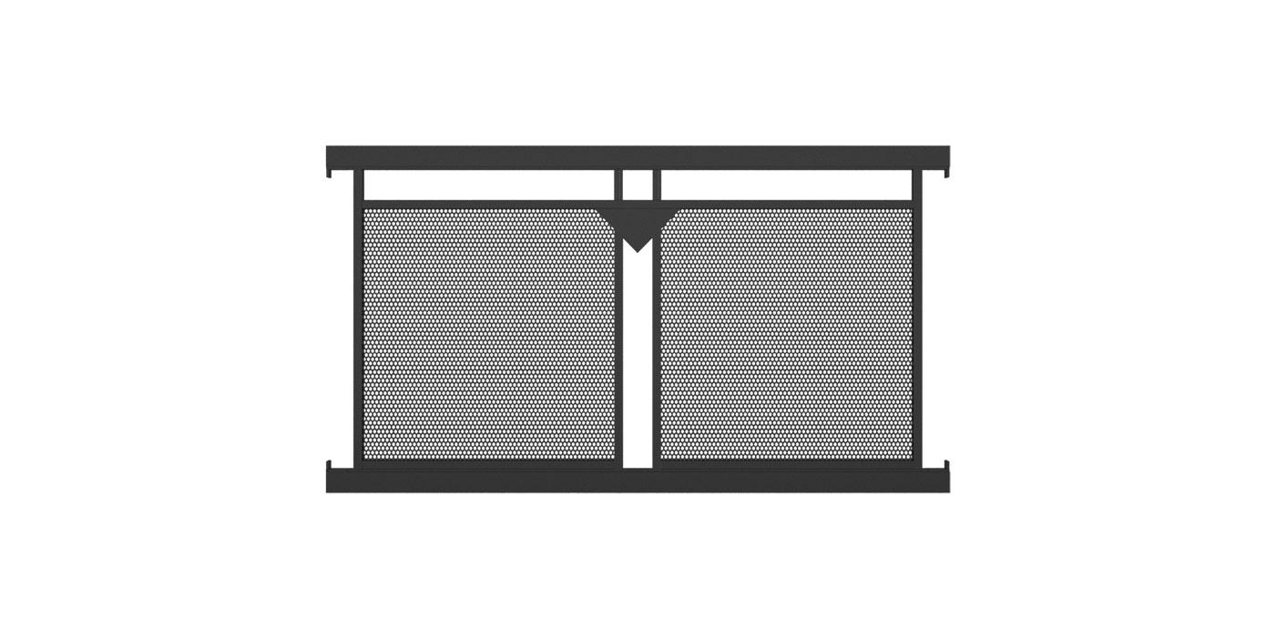 Loskana, Guardi, Österreich, Aluzaun, Zaun, Aluminium modern, Lochblechfüllung, Lochblech, Ornament